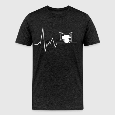 heartbeat drums - Men's Premium T-Shirt