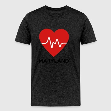 Heart Maryland - Men's Premium T-Shirt