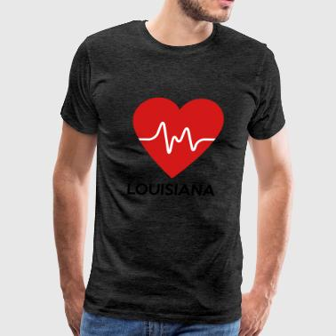 Heart Louisiana - Men's Premium T-Shirt