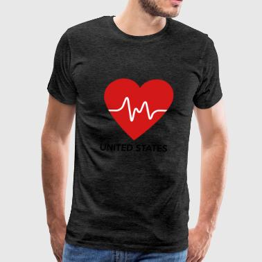 Heart United States of America - Men's Premium T-Shirt