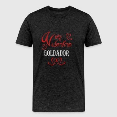 A romantic Valentine with my Goldador - Men's Premium T-Shirt