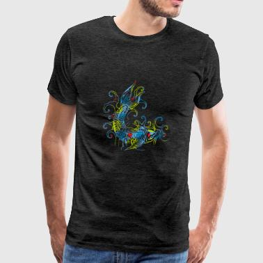 Colorful Japan style fish - Men's Premium T-Shirt