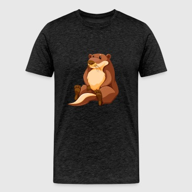 muskrat-animal-wildlife-cool - Men's Premium T-Shirt