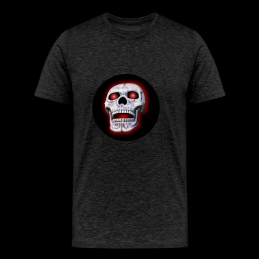 glowing skull - Men's Premium T-Shirt