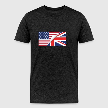 Half American Half British Flag - Men's Premium T-Shirt