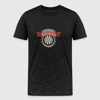 Dart Player and Trademark Treblemaker - Men's Premium T-Shirt