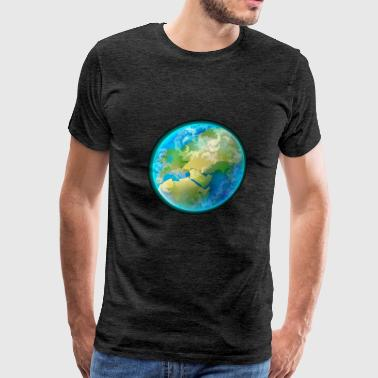 Cartoons-funny-planet-Earth-space - Men's Premium T-Shirt