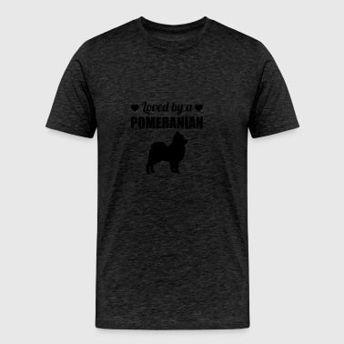 Loved By A Pomeranian - Men's Premium T-Shirt