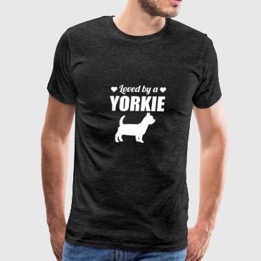 Loved By A Yorkie - Men's Premium T-Shirt