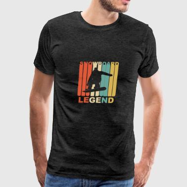 Vintage Snowboard Legend Graphic - Men's Premium T-Shirt