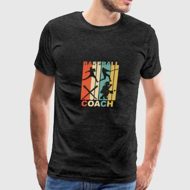 Vintage Baseball Coach Graphic - Men's Premium T-Shirt