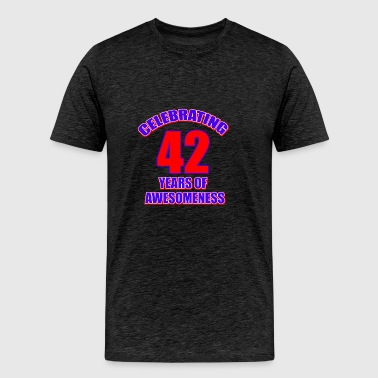 42 birthday design - Men's Premium T-Shirt