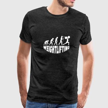 Weightlifting Evolution - Men's Premium T-Shirt