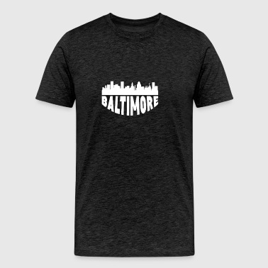 Baltimore MD Cityscape Skyline - Men's Premium T-Shirt