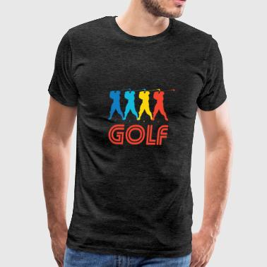 Retro Golf Pop Art - Men's Premium T-Shirt
