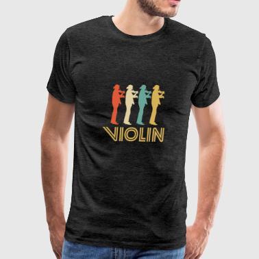 Retro Violin Pop Art - Men's Premium T-Shirt
