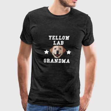 Yellow Lab Grandma Granddog - Men's Premium T-Shirt