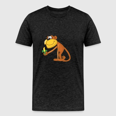 Cartoon Monkey - Men's Premium T-Shirt