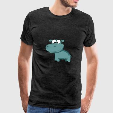 Cartoon Hippo - Men's Premium T-Shirt