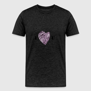 Violet Woven Heart - Men's Premium T-Shirt