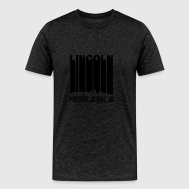 Retro Lincoln Nebraska Skyline - Men's Premium T-Shirt