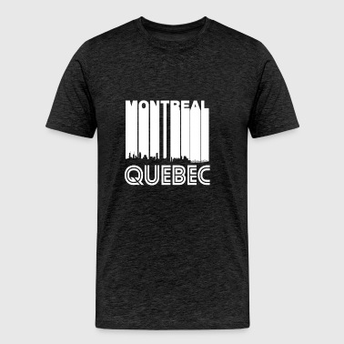 Retro Montreal Quebec Canada Skyline - Men's Premium T-Shirt