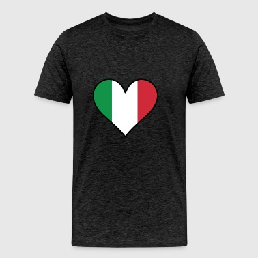Italian Flag Heart - Men's Premium T-Shirt