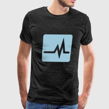Heartbeat or Equalizer wave - Men's Premium T-Shirt