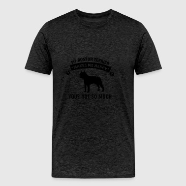 Funny Boston Terrier Designs - Men's Premium T-Shirt