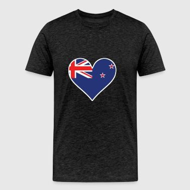 New Zealand Flag Heart - Men's Premium T-Shirt