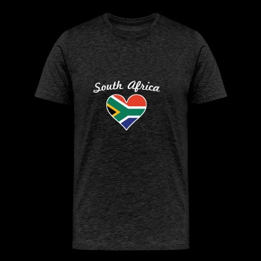 South Africa Flag Heart - Men's Premium T-Shirt