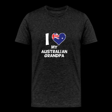 I Heart My Australian Grandpa - Men's Premium T-Shirt