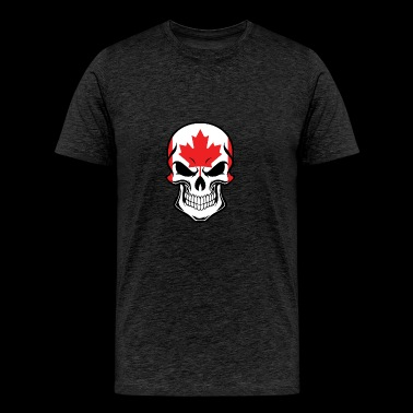 Canadian Flag Skull - Men's Premium T-Shirt