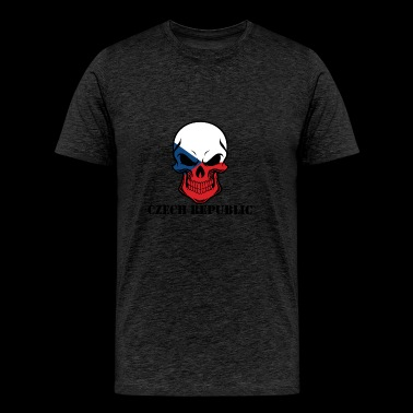 Czech Flag Skull Czech Republic - Men's Premium T-Shirt