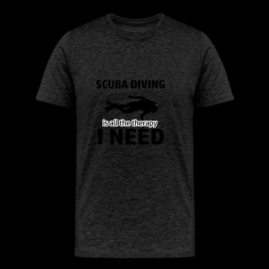 Scuba Diving is my therapy - Men's Premium T-Shirt
