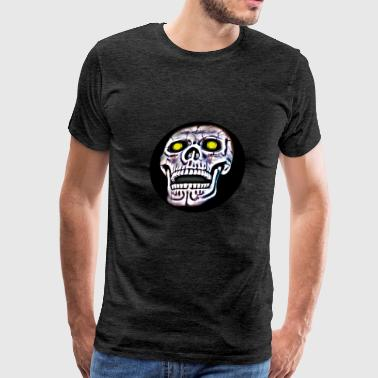 Skull glowing eyes - Men's Premium T-Shirt