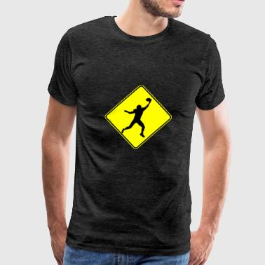 Football Wide Receiver Crossing - Men's Premium T-Shirt