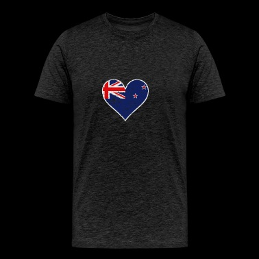 Distressed New Zealand Flag Heart - Men's Premium T-Shirt