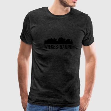 Wilkes-Barre Pennsylvania City Skyline - Men's Premium T-Shirt