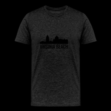 Virginia Beach Virginia City Skyline - Men's Premium T-Shirt