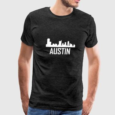Austin Texas City Skyline - Men's Premium T-Shirt