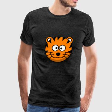 Funny Tiger Comic Style - Men's Premium T-Shirt