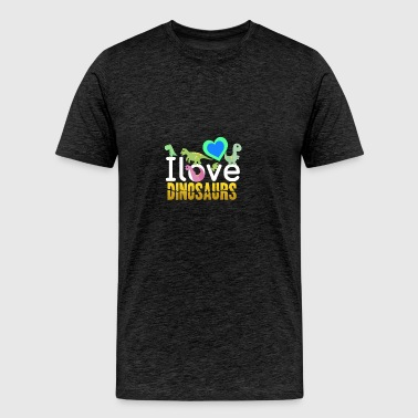I love Dinosaurs - Men's Premium T-Shirt