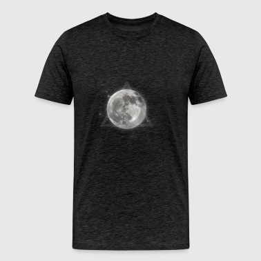 Moon and galaxy - Men's Premium T-Shirt