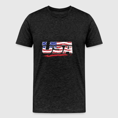 USA Patriot Proud Americans - Men's Premium T-Shirt