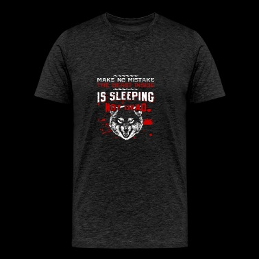 USA Patriot Wolf! Proud! - Men's Premium T-Shirt