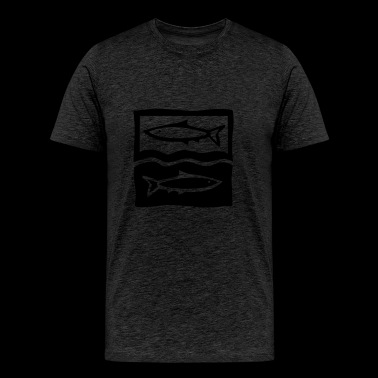 pisces / fishes / zodiac - Men's Premium T-Shirt