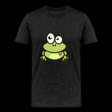 Funny green Frog with eyes - Men's Premium T-Shirt