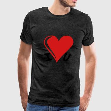 I love you - heart - Men's Premium T-Shirt