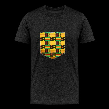 African Print Pocket - Men's Premium T-Shirt